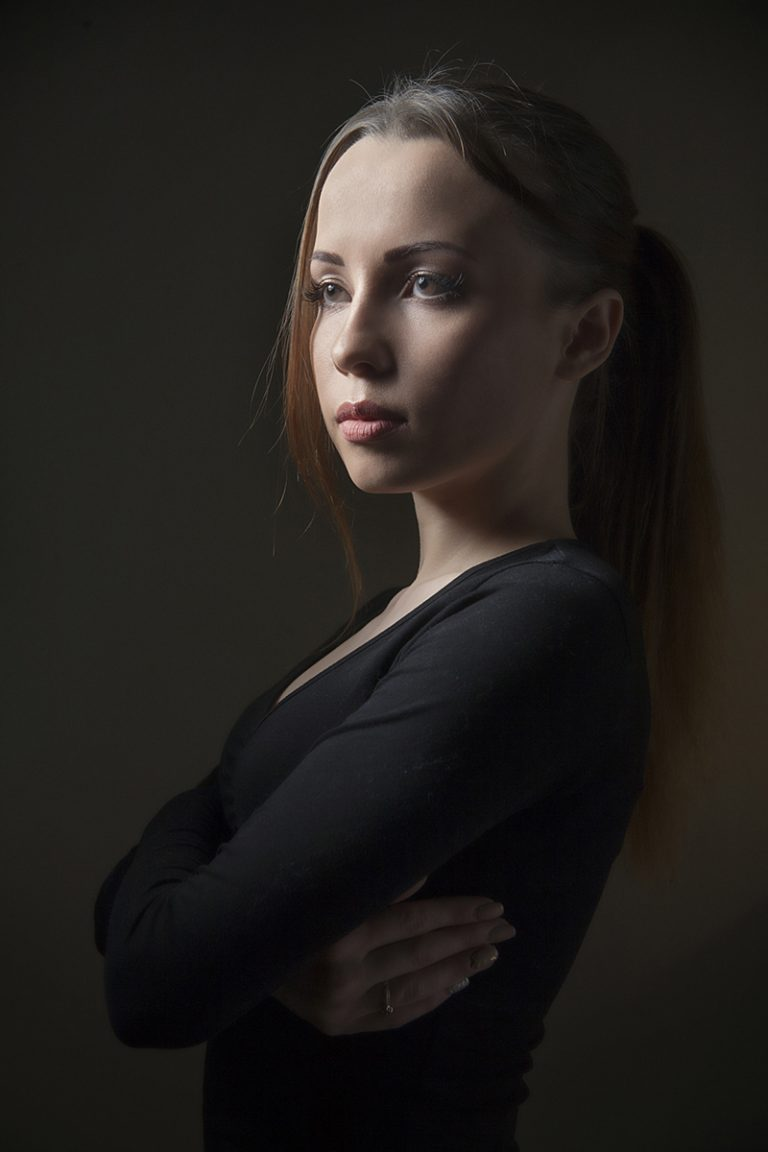 Оригинальный женский фотопортрет